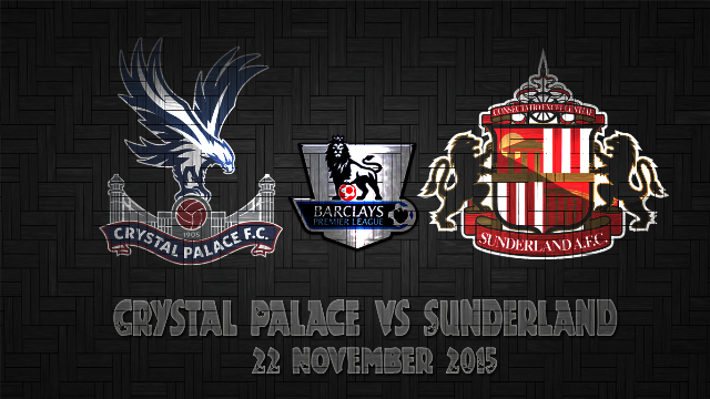 Prediksi Bola Crystal Palace vs Sunderland 24 November 2015