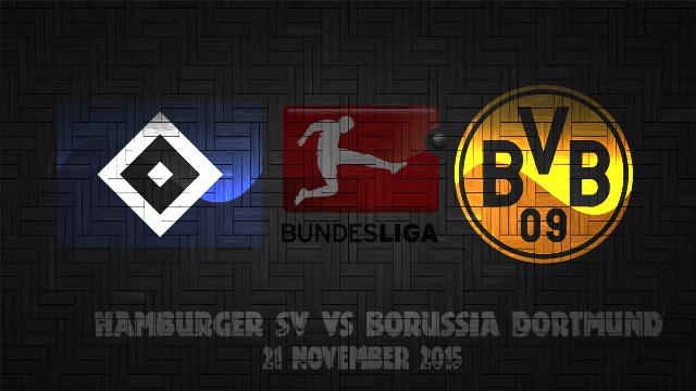 Bola Hamburger SV vs Borussia Dortmund 21 November 2015
