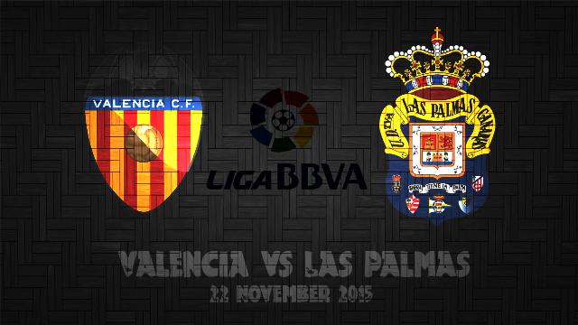 Prediksi Bola Valencia vs Las Palmas 22 November 2015