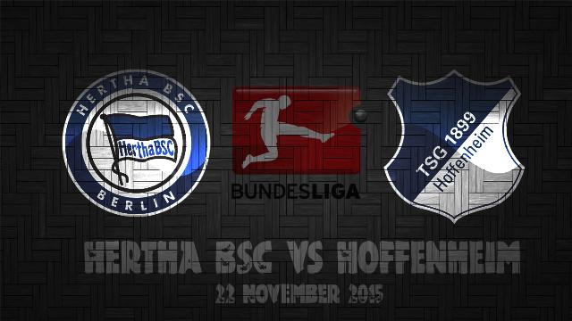 Prediksi Bola Hertha BSC vs Hoffenheim 22 November 2015