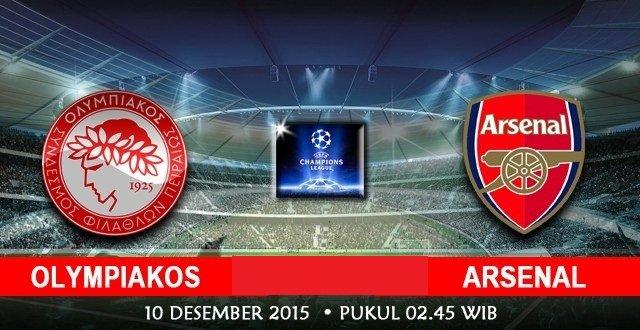 Prediksi Bola Olimpiakos Piraeus vs Arsenal 10 Desember 2015