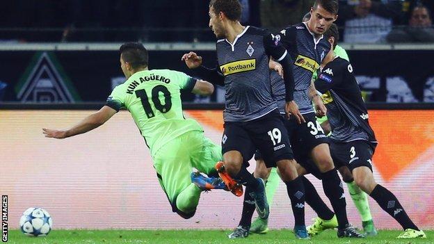 Prediksi Bola Manchester City vs Borussia M'Gladbach 9 Desember 2015